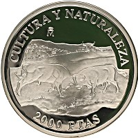 Изображение Монеты Испания 2000 песет 1994 Серебро Proof