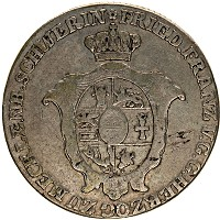 Изображение Монеты Мекленбург-Шверин 2/3 талера 1808 Серебро VF Герб