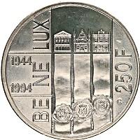 Изображение Монеты Бельгия 250 франков 1994 Серебро UNC Альберт II.  50  лет