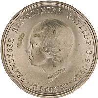 Изображение Монеты Дания 10 крон 1968 Серебро UNC-