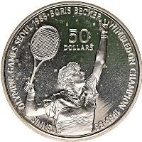 Изображение Монеты Ниуэ 50 долларов 1987 Серебро Proof- Олимпийские игры, те