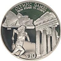 Изображение Монеты Соломоновы острова 10 долларов 2004 Серебро Proof- Олимпийские игры, бе