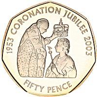 Изображение Монеты Остров Джерси 50 пенсов 2003 Серебро Proof