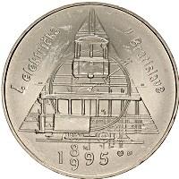 Изображение Монеты Словакия 200 крон 1995 Серебро UNC- 100-летие первый тра