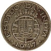 Продать Монеты Португальская Индия 1/4 рупии 1952 Медно-никель