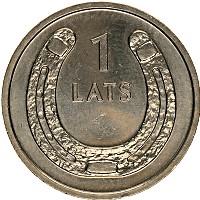 Изображение Монеты Латвия 1 лат 2010 Медно-никель UNC-