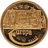 Изображение Монеты Германия Медаль 2003 Латунь UNC Переход на Евро. Гре