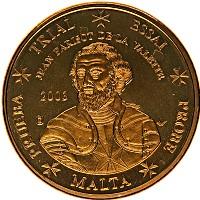 Изображение Монеты Мальта 20 евроцентов 2003 Латунь UNC