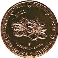 Изображение Монеты Словения 5 евроцентов 2003 Бронза UNC