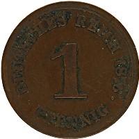 Изображение Монеты Германия 1 пфенниг 1876 Медь VF E