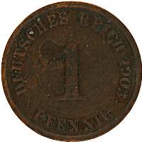 Изображение Монеты Германия 1 пфенниг 1903 Медь VF