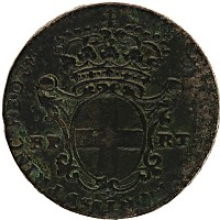 Изображение Монеты Сардиния 1 фартинг 1744 Медь VF