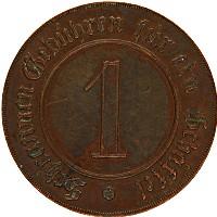Изображение Монеты Германия Игровой жетон 1853 Медь VF