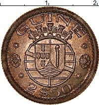 Изображение Монеты Гвинея-Бисау 2 1/2 эскудо 1952 Медно-никель XF