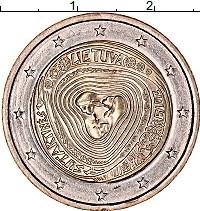 Изображение Мелочь Литва 2 евро 2019 Биметалл UNC