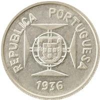 Каталог монет - Индия Португальская 1/2 рупии