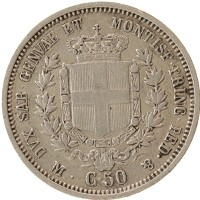 Каталог монет - Сардиния 50 сентесим