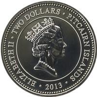 Каталог монет - Острова Питкэрн 2 доллара