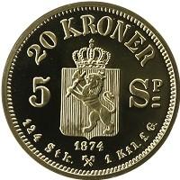 Каталог монет - Норвегия 20 крон