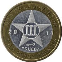 Каталог монет - Остров Хувентуд 3 песо