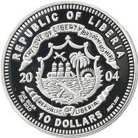 Каталог монет - Либерия 10 долларов