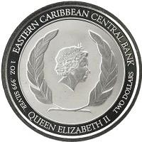 Каталог монет - Карибы 2 доллара