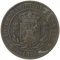 Каталог монет - Испания 10 сентимо