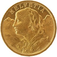 Каталог монет - Швейцария 20 франков