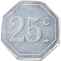 Каталог монет - Франция 25 сантим