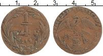 Изображение Монеты Мексика 1/4 реала 1833 Медь