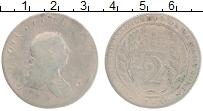 Изображение Монеты Эссекуибо и Демерара 2 гуилдерса 1809 Серебро  Георг III