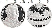 Изображение Монеты Италия 1000 лир 1995 Серебро Proof