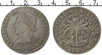 Изображение Монеты Боливия 8 солей 1861 Серебро VF