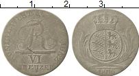 Изображение Монеты Вюртемберг 6 крейцеров 1806 Серебро