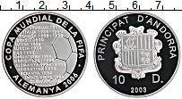 Изображение Монеты Андорра 10 динерс 2003 Серебро Proof- ФИФА. Чемпионат мира