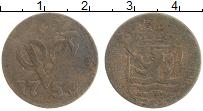 Изображение Монеты Нидерландская Индия 1 дьюит 1754 Медь VF Зеландия