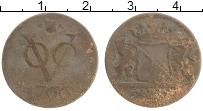 Изображение Монеты Нидерландская Индия 1 дьюит 1766 Медь VF Утрехт
