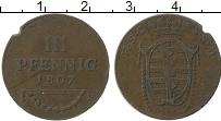 Изображение Монеты Германия Саксе-Кобург-Саалфельд 3 пфеннига 1807 Медь