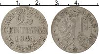Изображение Монеты Женева 25 сантим 1844 Серебро VF