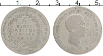 Изображение Монеты Пруссия 1/6 талера 1810 Серебро VF Фридрих Вильгельм II