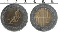 Изображение Монеты Андорра 2 динерса 1985 Биметалл XF Зимняя олимпиада в К