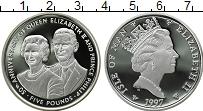 Изображение Монеты Остров Мэн 5 фунтов 1997 Серебро Proof- Елизавета II