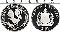 Изображение Монеты Самоа 10 тала 1986 Серебро Proof-