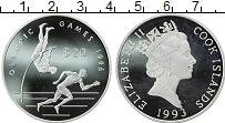 Изображение Монеты Новая Зеландия Острова Кука 20 долларов 1993 Серебро Proof