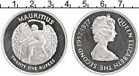 Изображение Монеты Маврикий 25 рупий 1977 Серебро Proof- Серебряный юбилей