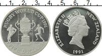 Изображение Монеты Новая Зеландия 5 долларов 1991 Серебро Proof- Елизавета II