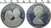 Изображение Монеты Гибралтар 1 крона 1981 Серебро Proof-