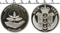 Изображение Монеты Ниуэ 20 долларов 1993 Серебро