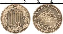 Продать Монеты КФА 10 франков 1974 Медно-никель