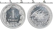 Продать Монеты КФА 1 франк 1974 Алюминий